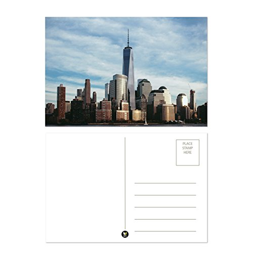 Set of 40 Assorted World Postcards Collection Variety Pack World Theme Self Mailer Mailing Side Postcards 20 Different Designs, 2 of Each, 40 Pack Postage Saver - 4 x 6 Inches Photo #2