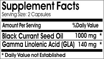 Black Currant Seed Oil 1000mg ~ 180 Capsules - No Additives ~ Naturetition Supplements