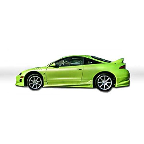 KBD Body Kits Compatible with Mitsubishi Eclipse/Eagle Talon 1995-1999 Bomb Style 2 Piece Flexfit Polyurethane Side Skirts. Extremely Durable, Easy Installation, Guaranteed Fitment, Made in the USA!