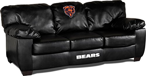 Imperial Officially Licensed NFL Furniture: Classic Leather Sofa/Couch, Chicago  Bears