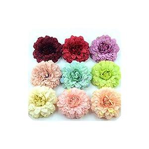 50Pcs Chrysanthemum Artificial Silk Flower Head Home Wedding Party Wreath Scrapbooking Fake Sunflower 23