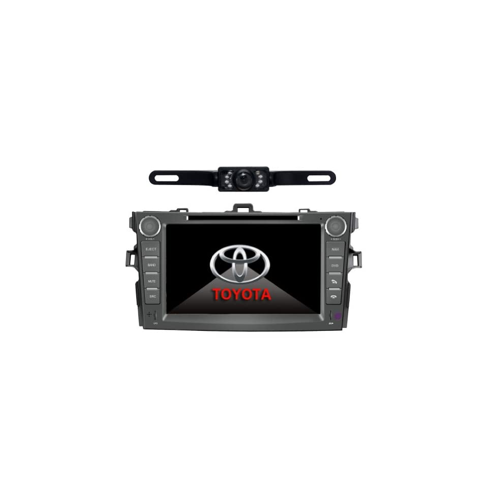 Tyso For TOYOTA Corolla (support year 2007 2008 2009 2010) 8 inch Indash CAR DVD Player GPS Navigation Navi iPod Bluetooth Rear Camera HD Touchscreen TV Radio RDS FM PIP Free Map CD8963R