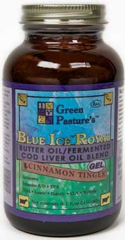 Verde pasto - hielo azul Royal mantequilla aceite, sabor canela Tingle, Oz 8,1