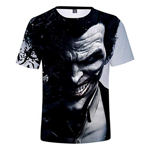 Oxking Kids Child Girls and Boys Unisex Family Comedy Movie Summer 3D Graphic Print T-Shirt Joker Q2766X S -