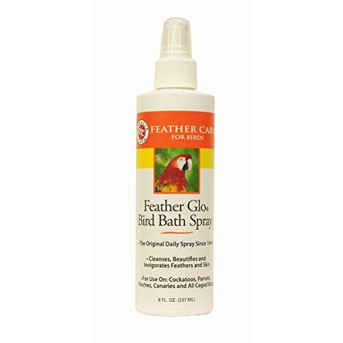 Miracle Care Feather Miracle Care Feather Glo Bird Bath Spray, 8-Ounce (Shampoo Bird)