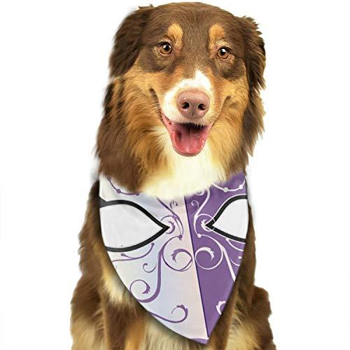 Sourde Customized Retro Purple Pattern Mask Classic Pet