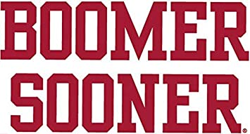 """Oklahoma OU decal sticker colors white 6/"""" OR 12/"""" NOT avaiable in stores NEW"""