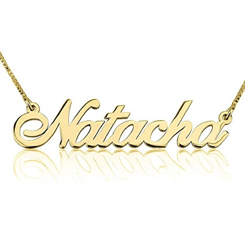 Personalized Custom 24K Gold Plated Classic Name Necklace Jewelry (16) (Necklace Monogram Jewelry)