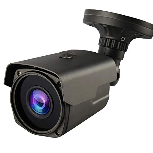 Bright Clear Night Vision 1080P Sony Starvis Sensor (AHD/TVI/CVI) 960H 2.8-12mm Manual Zoom CCTV Camera, WDR(1080P Modes Only), Smart IR, HLC, Honic 2MP Outdoor Bullet Analog Security Camera (Grey) (Camera In Sony)