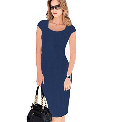 No blue Vestido Vestido 13 Sello Impreso ZHUDJ Y4nIqwR8tx