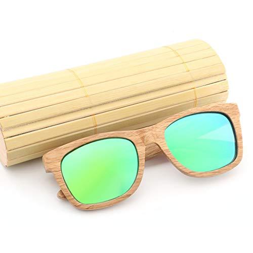荒れ地コンパス持続するビンテージ竹の木製の偏光サングラス (色 : Orange)
