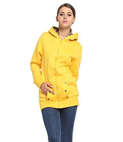Tribangke - Sudadera con capucha - para mujer amarillo