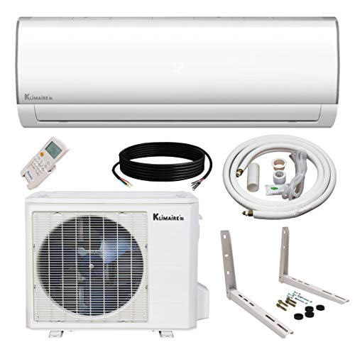 Klimaire Ductless Mini-Split Inverter Air Conditioner Heat Pump System with 15 Ft. Installation Kit (24K BTU_230V)