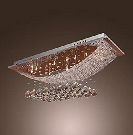 Glighone Lámpara Colgante Cristal 8*G4*20W LED Lámpara de Techo Luz Moderna Lámpara de Araña Iluminación Contemporáneo Elegante