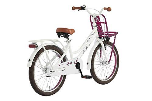 Altec 20 Zoll Kinder City Fahrrad Kinderfahrrad Cityfahrrad M/ädchenfahrrad Bike Rad R/ücktrittbremse Beleuchtung Fronttr/äger TUANA PINK WEI/ß