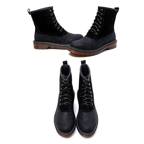 pizzo single spessore Inghilterra donna donne stivali scarpe di da in Martin marea stivali 34 spazzola 34 rotonda NSXZ BLACK stivaletti con TqS6fw