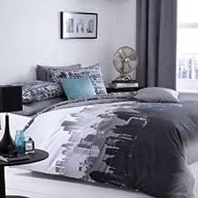 City Scape Skyline King Size Duvet Bed Linen Set