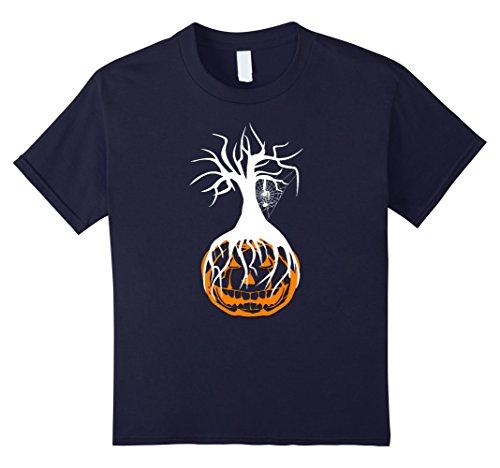Adult Haunted Tree Halloween Costumes (Kids Pumpkin Tree Halloween TShirt for Boys, Girls, Kids & Adults 12 Navy)