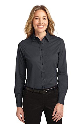 Puerto para mujer camiseta de manga corta de resistencia antiarrugas con mariposa Classic Navy/Light Stone