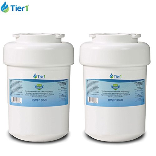 2 Pack Tier1 GE MWF SmartWater, MWFP, MWFA, GWF, GWFA, HWF, Kenmore 9991, 46-9991, 469991, 469905, 469996 Replacement Refrigerator Water Filter