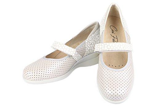 delicados Ideal Velcro Cierre y combinada de Tonos Ajustable Plantillas Plata con y Anchos Merceditas para en extraibles Zapato pies qOUwt