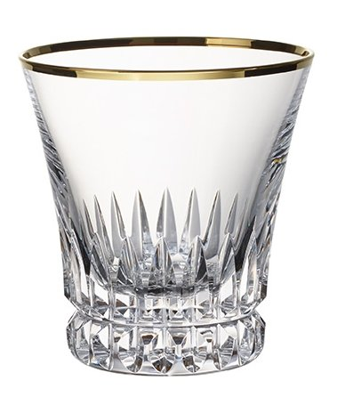 Villeroy & Boch Grand Royal Gold Water Glass, 290 ml, Crystal Glass, Transparent