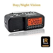 HIDDEN CAMERA NIGHT VISION CUBE RADIO Hi RESOLUTION SPY CAMERA DVR MOTION-ACTIVATION - SPYSONIC
