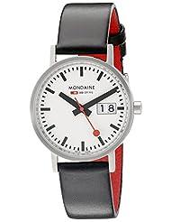 Mondaine Unisex A669.30008.16SBO Analog Display Swiss Quartz Black Watch