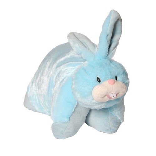 Childrens Generic 2 in 1 Pet Pillow Cushion Toy Cat, Bunny, Dragon, Butterfly, Unicorn (Blue Bunny) Home Harmony