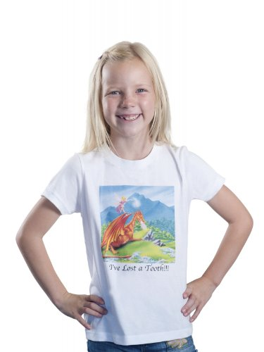 Fairies Galore Tooth Fairy Dragon Tee Shirt Large-8 ()