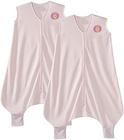 Halo Early Walker Extra Large Lightweight Polyester Knit SleepSack, 2 Pack - Pink Flower