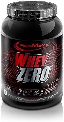 [Gesponsert]IronMaxx Whey Zero Protein, Vanille – Molkenprotein mit 97 % Whey Anteil – Zuckerfreies Protein Isolat für den...