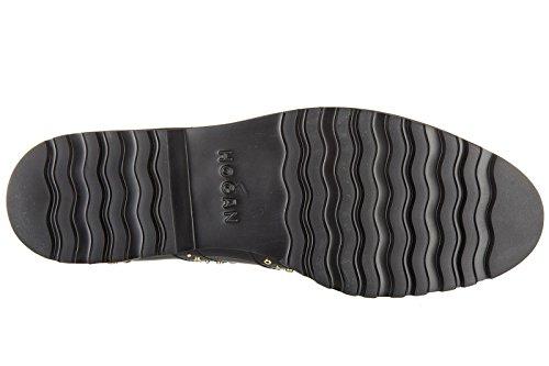 Hogan Kvinna Klassiska Läder Snörning Spetsad Formella Skor Brogue H259 Francesina