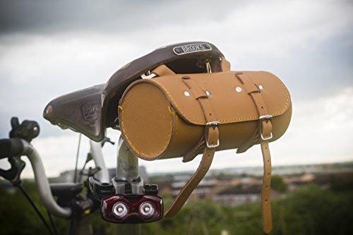 Sattel/Lenker Rolle Tasche echt Leder Tan HONIG für Bike Werkzeuge