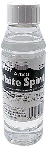 West Artists' White Spirit 250ml, None, 7.2 x 7.2 x 14.6 cm West Design Products WD830552