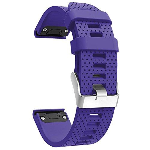 QGHXO Band for Garmin Fenix 5S, Soft Silicone Replacement Watch Band Strap for Garmin Fenix 5S Smart Watch, Fit 5.31-8.46, (Not Fit Fenix 5/5X)