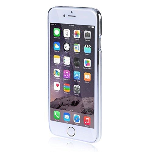 iPhone 6 Case Okeyn® Series [Aluminum Brushed Case] iPhone 6 Case [Ultra Thin Simple Splicing Design] for iPhone 6 4.7″-(Black)