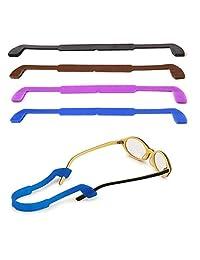 Natuworld 5 Piezas antirresbaladizas Correas de Gafas de Silicona retenedor de Gafas Gafas elásticas Gafas de Sol Cordones Gafas Deportivas Titular de la Correa para niños y Adultos (Color al Azar)