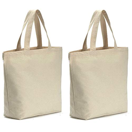 AxeSickle Canvas Tote Bag 2PCS Bottom Gusset 16