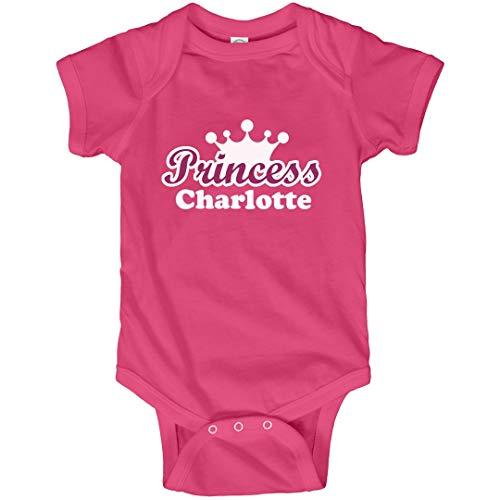 FUNNYSHIRTS.ORG Princess Charlotte Bodysuit: Infant Bodysuit Hot Pink