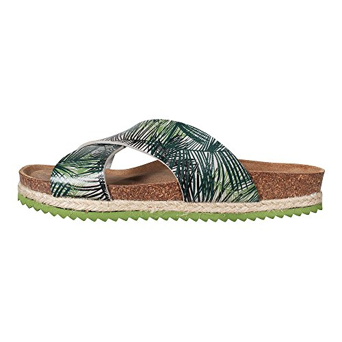 Damen Khaki Palms grün Khaki Safari Sandale Paez UwAqxIvdRU