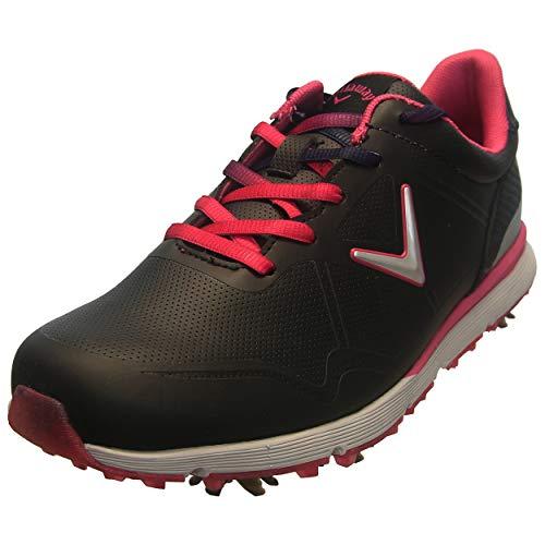 Callaway Women's Halo Golf Shoe, Black/Pink, 7 B US