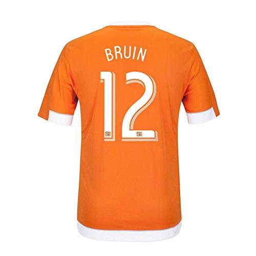 偶然の固める置くためにパックAdidas BRUIN #12 Houston Dynamo Home Jersey 2016 (Authentic name & number) /サッカーユニフォーム ヒューストン?ダイナモ ホーム用 ブルーイン
