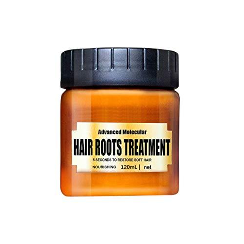 Uscharm 120ml Magical keratin Hair Treatment Mask 5 Seconds Repairs Damage Hair Root Hair Tonic Keratin Hair & Scalp Treatment(Brown,120ML/1 Pack) (Brazilian Keratin Hair Treatment Qod Max 1000ml)