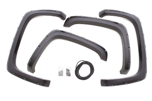 Lund RX106T Elite Series Black Rivet Style Textured Front and Rear Fender Flare - 4 Piece