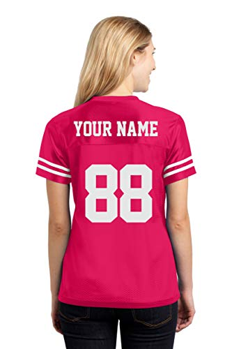 Youth Mesh Jersey Shirt - Custom Sports Jerseys for Ladies - Make Your OWN Jersey T Shirts & Team Uniforms Pink Raspberry