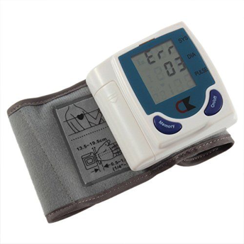 Amazon.com: 1x Digital Lcd Wrist Cuff Arm Blood Pressure Monitor Heart Beat Meter Lcd Display Machine: Health & Personal Care