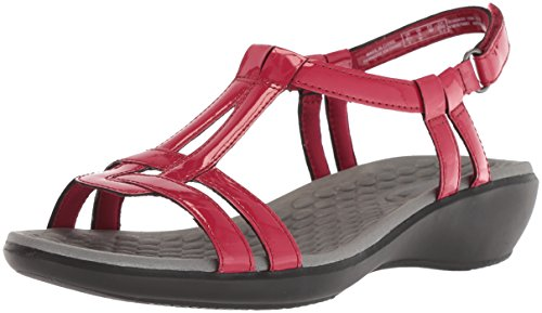 Clarks Womens Sonar Aster Sandal Rosso Brevetto Sintetico