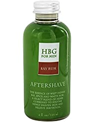 Honeybee Gardens: Men's Products, Herbal Gluten-Free Vegan Aftershave, Bay Rum, 4 oz