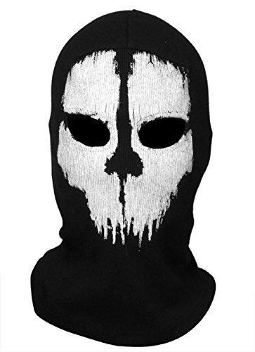 Koveinc New Ghosts Balaclava Bike Skateboard Cosply Costume Skull (Cool Running Halloween Costumes)
